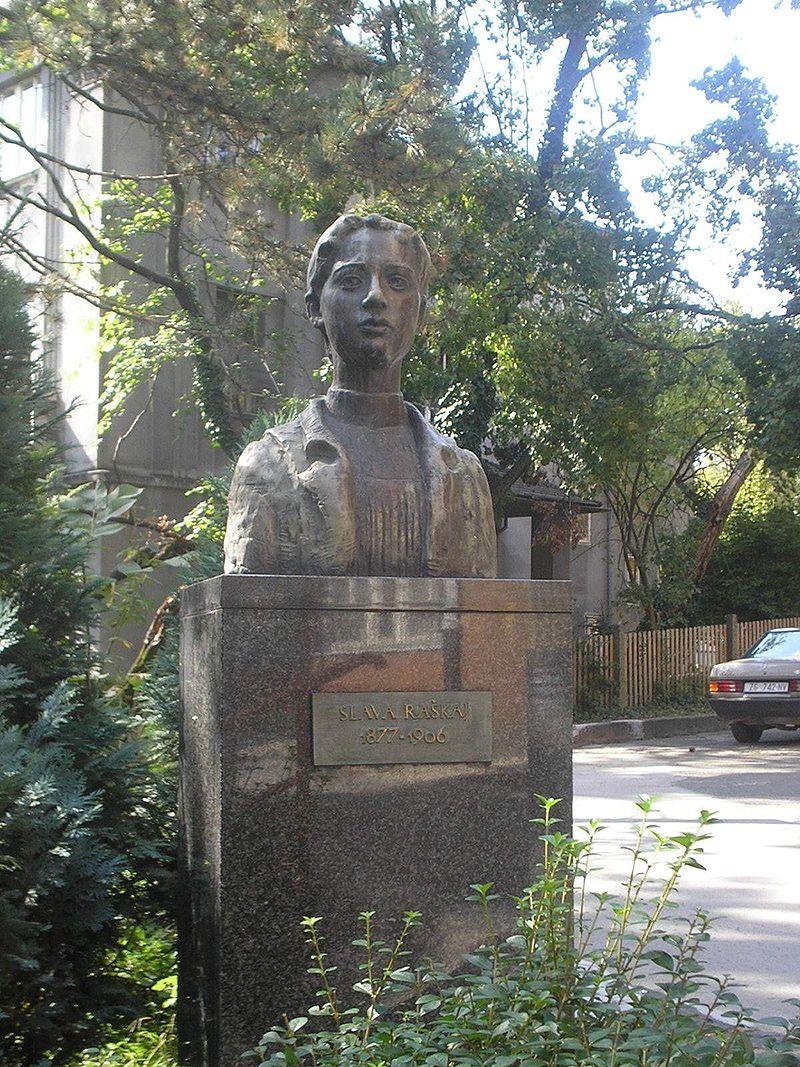 Slava Raškaj's bust in Zagreb