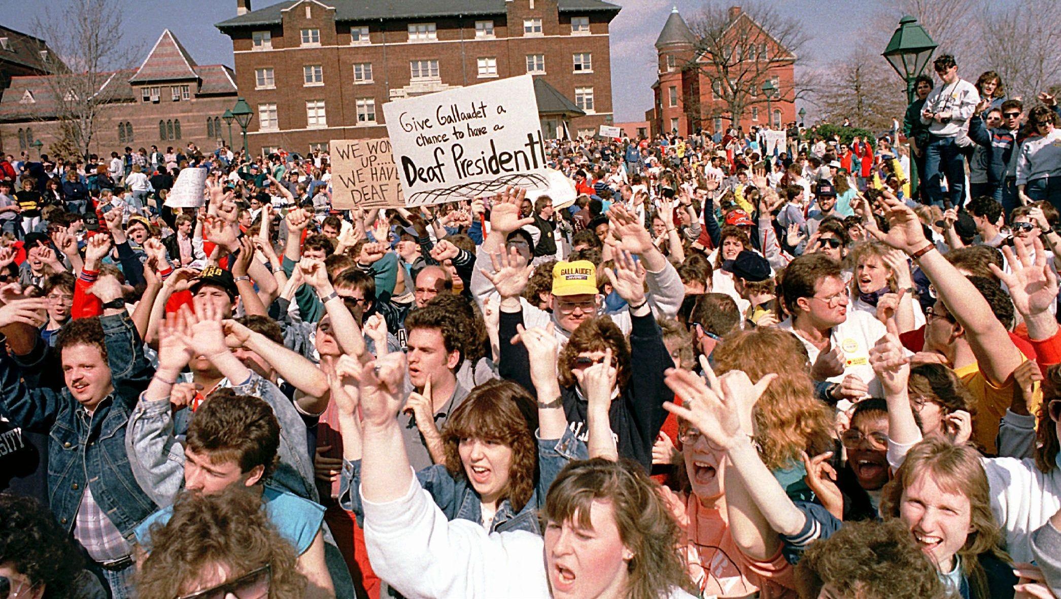 1988: Deaf President Now (USA)